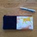 Unicorn print/denim make-up pouch/pencil case/glasses holder