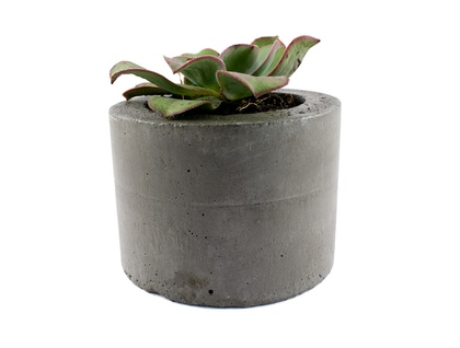Charcoal concrete planter pot