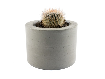 Natural concrete planter pot