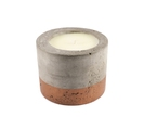 Copper concrete candle - French pear