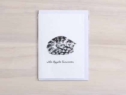 Cat Treats Greeting Cards - Featuring digital prints of watercolour cat designs
