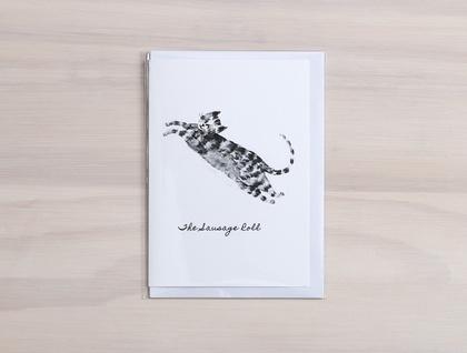 Cat Treats Greeting Cards - Featuring digital prints of watercolour cat designs