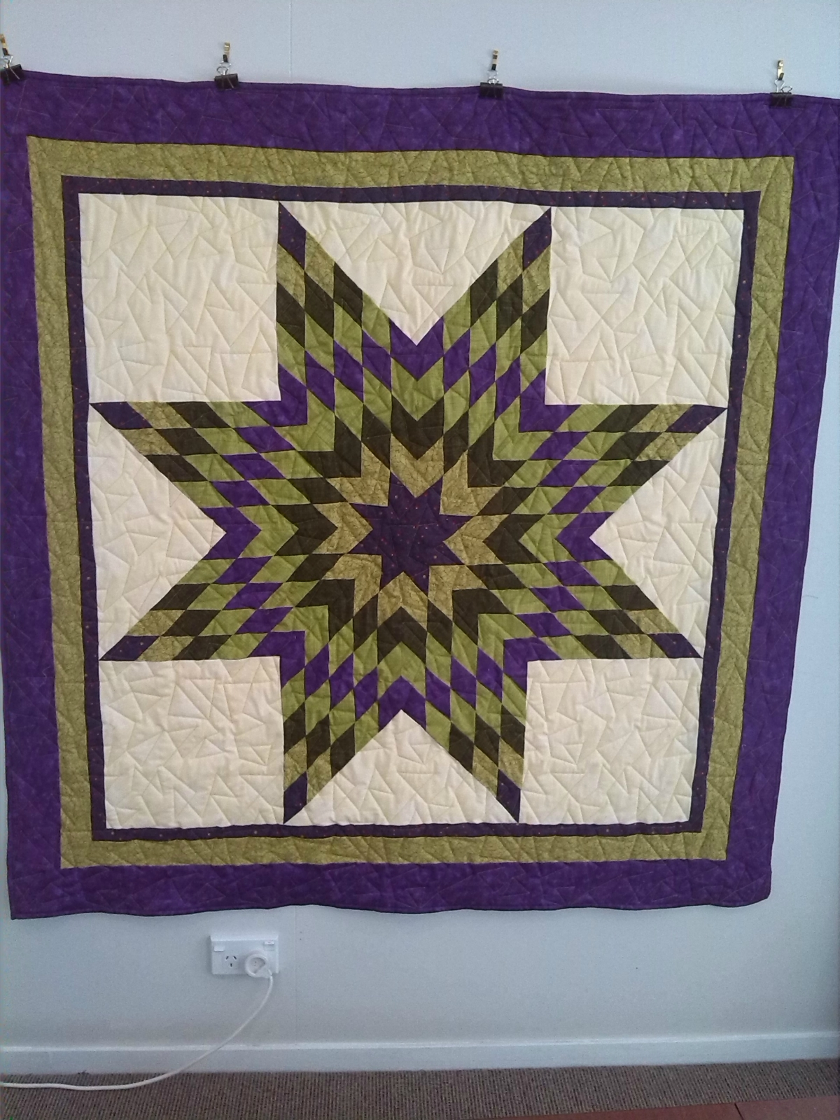Quilting Pattern For Lone Star : Lone Star Quilt Felt