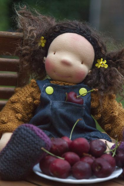 Sold. Cherry. Waldorf doll, Steiner doll, handmade doll, cloth doll, rag doll