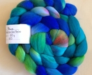 Merino 18.5 micron Combed Top hand painted 100 g - Paua