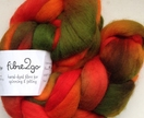 Merino Combed top 18.5 micron fine merino approx 100g Hand-painted  - AUTUMN