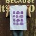 Cotton tea towel, purple Jelly print Tea towel, Boysenberry jelly!