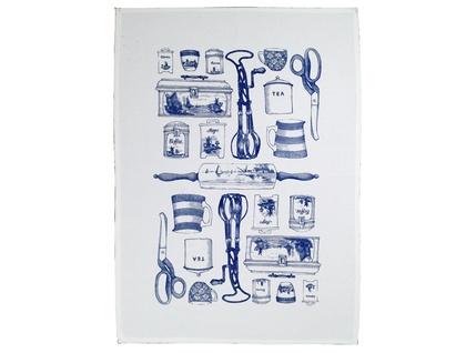 Cotton tea towel, Delft blue vintage kitchen