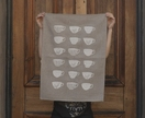 Natural 100% Linen White vintage tea cups kitchen tea towel