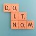 Retro Scrabble Magnet 'Do It Now'