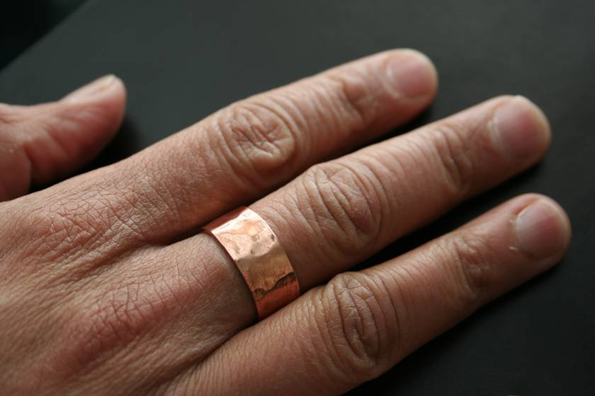 Hammered Copper Ring