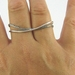 Sterling Silver Two Finger Ring.  Sterling Silver Double Finger Ring