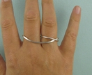 Sterling Silver Double Finger Ring.
