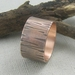 Copper Hammered Ring.  Copper Bark Ring