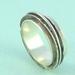 Sterling Silver Spinner Ring. Chunky Mens Ring