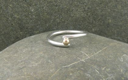 Sterling Silver and Gold Wrap Ring