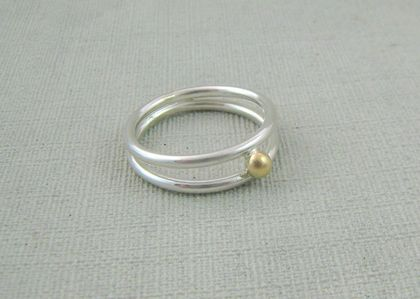 Sterling Silver and Gold Double Ring