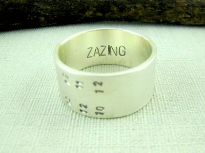 Personalised Date Ring