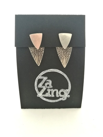 Sterling Silver Triangle Ear Jackets