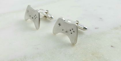 Sterling Silver Game Controller Cufflinks