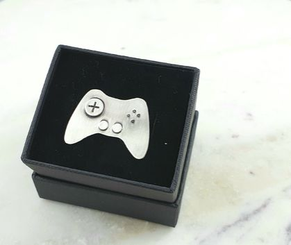 Sterling Silver Game Controller Pin