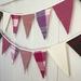 Woollen Blanket Bunting - Dusky Pink
