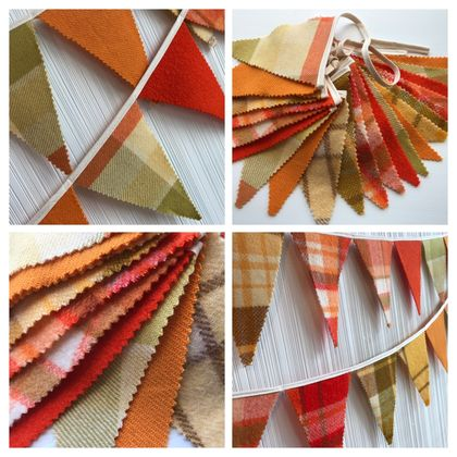 Bunting - 3 metres! (retro mix orange)