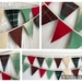 Bunting - Christmas Red