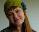 Chartreuse Wool Angora Hat