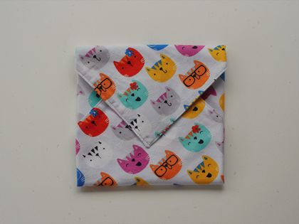 Lunch Things - Quirky Cats Sandwich Wrap, Standard Size