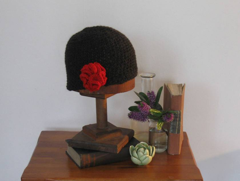 Chocolate Marle Hat