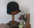 Charcoal Cloche with urchin rosette