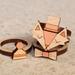 Handmade Fancy Fox Laser Cut Wood Stackable Ring Set (size 8 US)