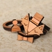 Handmade Fancy Fox Laser Cut Wood Stackable Ring Set (ring size 6 1/2 US)