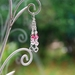 RubyMae - Gorgeous Sterling Silver Hearts with Pink Crystals Earrings