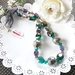 RubyMae - Emerald & Violet with Silver Hearts