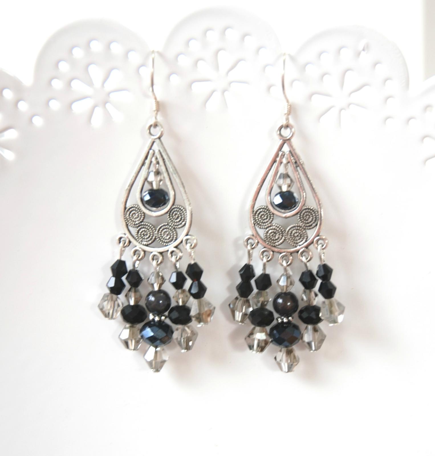 Rubymae Black Chandelier Earrings Felt