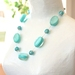RubyMae - Aqua Bubble and Bead Necklace