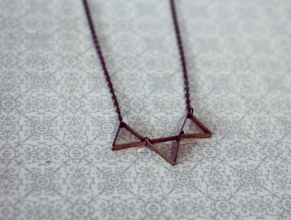 Bunting Necklace in Brass, Gold or Silver
