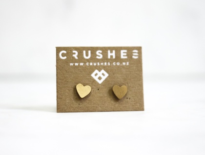 Brass Heart Earrings