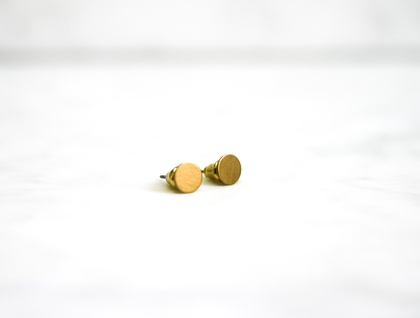 Brass Circle Earrings