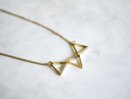 Gold Triangle Bunting Necklace