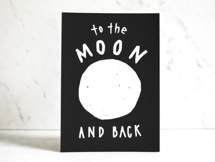 Moon and Back Print - A5