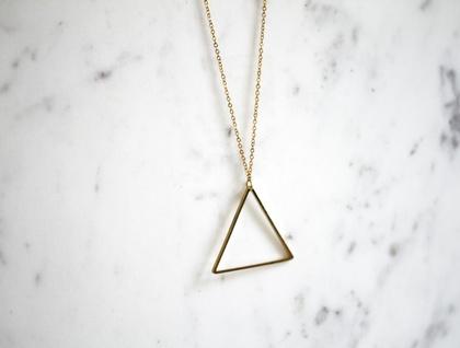 Slimline Triangle Necklace - Gold