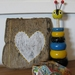Yellow heart on Driftwood