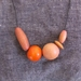 """""""tangerine crush"""" asymetrical wooden bead necklace"""