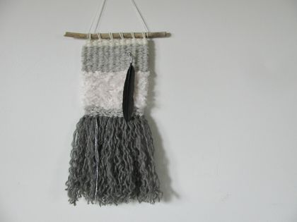 """Whisper"" woven wall hanging"