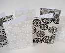 Hand Screen Printed Fabric Covered Card Set - Assorted flower Designs