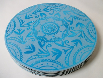 Screen printed place mats