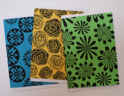 Flower power greeting cards